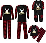 XIUSHANG Pyjamas Christmas Pajamas Sets for Family Boys and Girls Long Sleeve Elk Soft Sleepwear Pjs Lounge Sets Loungewear