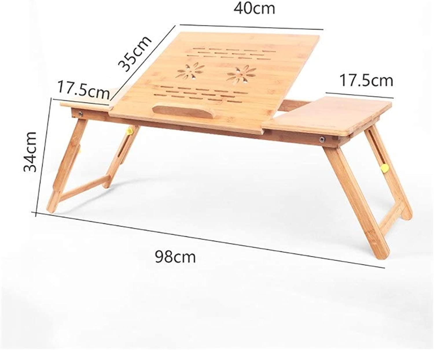 Laptop Table Solid Wood Collapsible Lift Computer Desk, Easy Learning Desk, Multi-Functional Desk, Support (Size   12 )