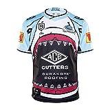 LXIN Tenue de Rugby de Requin Accueil Jeu Polo Hommes Casual Respirant Sportswear Chemise à Manches Courtes Cadeau de Sport,M