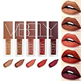 Set di rossetti opachi a 5 colori, smalto per labbra in velluto, set di lucidalabbra impermeabile a lunga durata, set regalo per il trucco per ragazze e donne