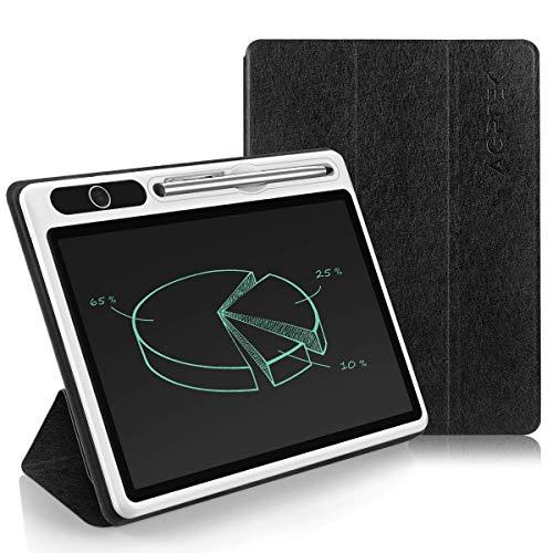 AGPTEK LCD Schreibtafel 10.1 Zoll, Elektronisches Business Maltafel mit Schutztasche und Metallstift, magnetischer Zaubertafel für Büro, Besprechung, Notizen, Kinder Erwachsener