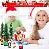 TANCUDER 8 Stücke Kinder Aufziehspielzeug Weihnachten Uhrwerk Spielzeug ABS Weihnachten Aufziehspielzeug Wind Up Figur Aufziehfigur Weihnachten Deko Figuren für Kinder - 7