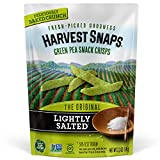 Harvest Snaps Green Pea Snack Crisps Lightly Salted, 3.3 oz (Pack of 12). Plant-based | Baked, never fried | Certified Gluten-Free