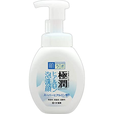 肌ラボ 極潤 ふんわりヒアルロン泡洗顔 スーパーヒアルロン酸&吸着型ヒアルロン酸W配合 160mL