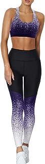 Dihope - Conjunto de ropa de deporte para mujer - 2 piezas,