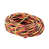 16' 5m 3-Way Servo Wire 22awg 60 cores Twisted Cable for JR Hitec Futaba(BDHI-37)