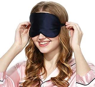 Silk Sleep Mask & Blindfold, Soft Eye Mask with Adjustable Head Strap, Deep Rest Eye Masks for Sleeping Night Eyeshade, Ey...