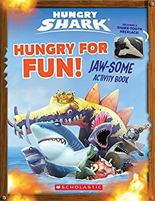Hungry for Fun! (Hungry Shark: Activity Book with Shark Tooth Necklace): Jaw-Some Activity Book