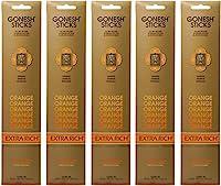 【5個セット】 GONESH(ガーネッシュ) お香 インセンス スティック エクストラリッチ スティックオレンジ 20本入