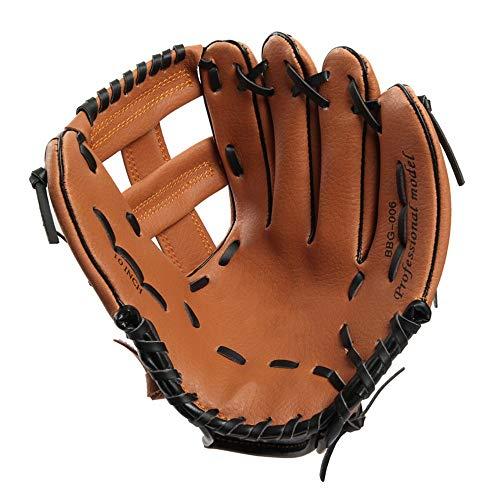 WH-IOE Sport Batting Handschuhe Linke und rechte Hand Handschuhe Adult Teen Kinder Wettbewerb Baseball-Handschuhe für Erwachsene Jugend Kinder (Farbe : Brown Left Hand, Größe : 10Inch)