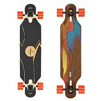 Loaded Boards Icarus Bamboo Longboard Skateboard Complete w/ 80mm 80a Kegels  Flex 1