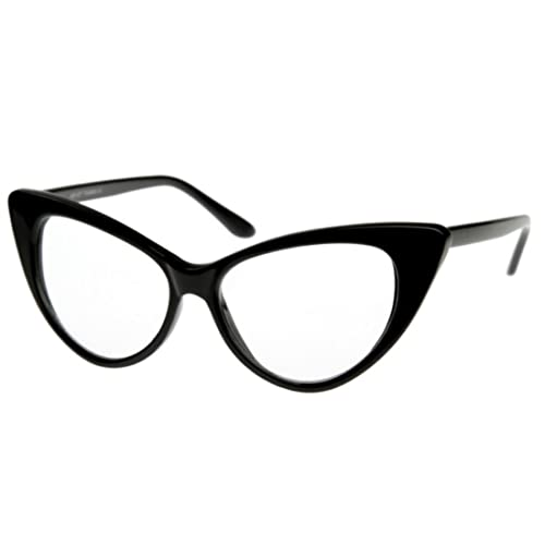 647d395d66 Men s Women s Original Retro glasses CLEAR LENS Unisex Vintage Cat Eye  style Party