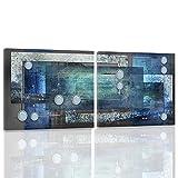 4 parti CONCHIGLIE 60x60 cm DECORAZIONE BLU Quadro su tela Canvas Quadro multipannello Arte Murale Stampata Stampa Artistica Feeby
