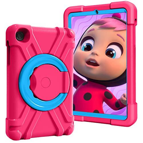 Tablet PC Bolsas Bandolera Cubierta de la tableta para niños para la pestaña Galaxy de Samsung A T307 8.4, con soporte de mango plegable, soporte giratorio, cubierta protectora a prueba de golpes resi