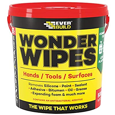 Wonder Wipes Multi-Use Cleaning Wipes Monster Bucket, 500 Wipes by Sika Everbuild