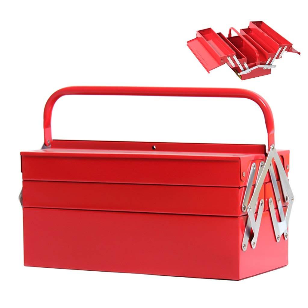Organizador de Herramientas Caja de herramientas de metal en voladizo de 5 bandejas Caja de herramientas de metal de tres capas Reparación Caja de almacenamiento de hardware for el hogar del automóvil: