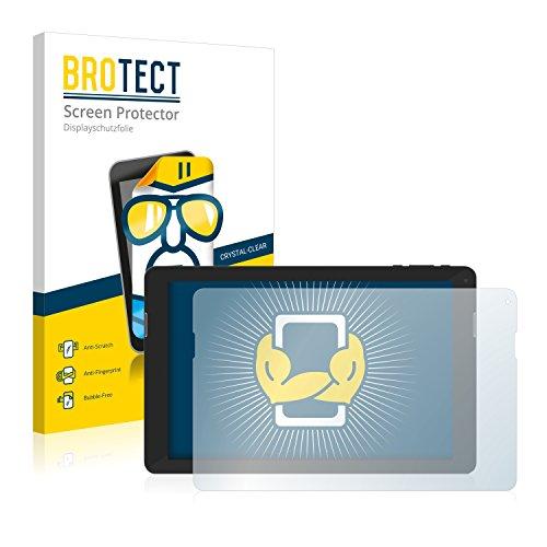 BROTECT Schutzfolie kompatibel mit TrekStor SurfTab xintron i 10.1 Fan Edition (2 Stück) klare Bildschirmschutz-Folie