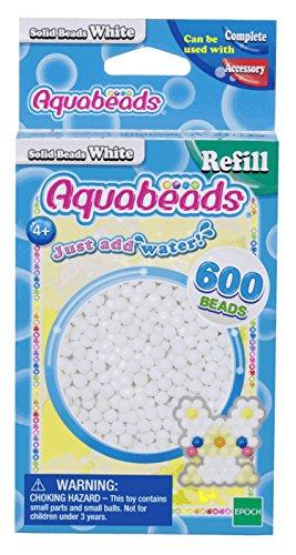 Aquabeads 32638 Weiße Perlen - Nachfüllset