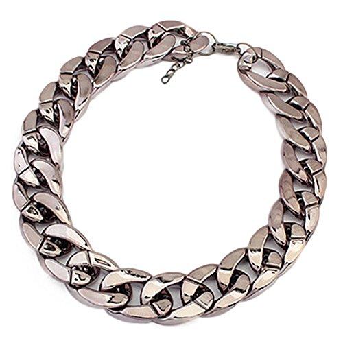 Luxus Herren Halskette Schmuck Kette Geschenk Königskette (Schwarz)