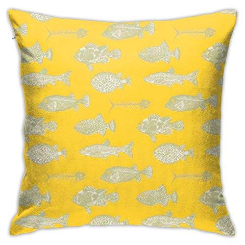 KLKLK Throw Pillow Covers Fischgräten Wollstoff Weiche Bequeme quadratische Dekor Kissenbezug 18 x 18 Zoll für Sofa Büro Schlafzimmer Auto