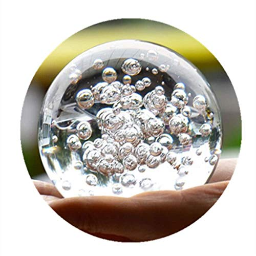 Crystal Glass Marbles Water Fountain Bubble Ball feng Shui Decorative Glass Balls Home Indoor Water Fountain Figurines (Shipping from China)