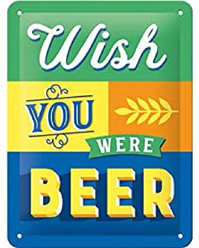 Nostalgic-Art 26229 Wish You were Beer | Retro Cartel de Chapa | Vint