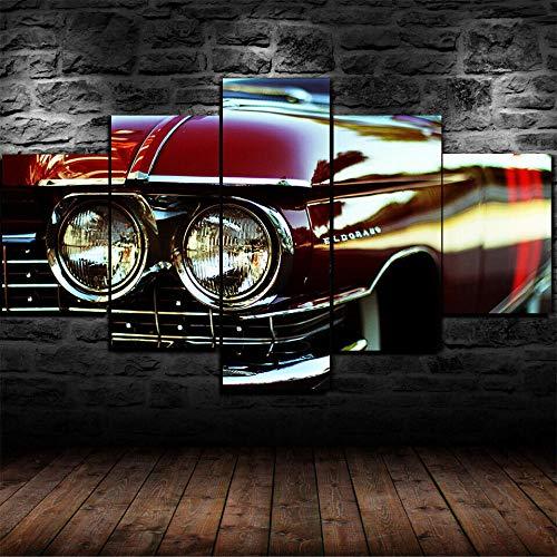 5 Piezas Impresión En Lienzo Coche clásico Cadilac Eldorad Cuadros Moderno Canvas De 5 Piezas Mural Decor Fotos Imagen Artística con Marco Fotografía para Oficina