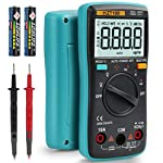HASAGEI 4000 Counts Auto-Ranging TRMS Digital Multimeter/Ohmmeter/Voltmeter for Resistance/Diodes/Duty-Cycle/Capacitance/Frequency/Relative measurement, 600V overload protection Battery Voltage Tester