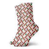 yting Calcetines casuales Calcetines de tejido de bandera de Líbano Calcetines cortos de compresión Vestido corto Calcetines de compresión para mujeres Hombres