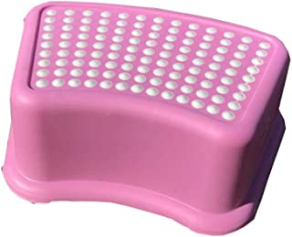 Toddler's Stool,children's plastic washbasin footstool, toilet toilet anti-slip stool@blue,Resistant Pads for Toddlers (Co...
