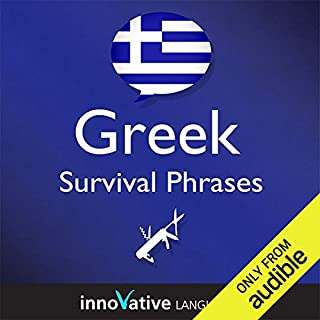 Learn Greek - Survival Phrases Greek, Volume 1: Lessons 1-30 audiobook cover art