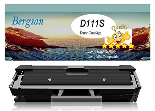 Bergsan Cartucce Toner compatibile con Samsung MLT-D111S Sostituzione con Xpress M2020 M2020W M2022 M2022W M2070 M2070W M2070FW M2026 M2026W M2070F M2021W M2071 M2071W M2071FH