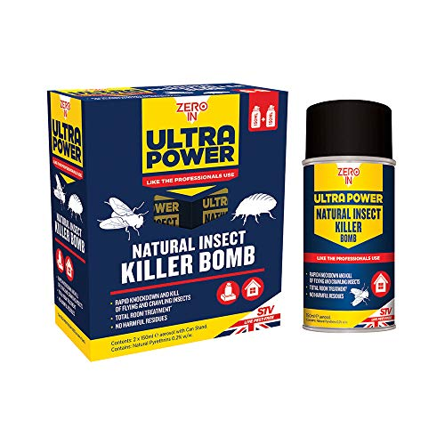 Zero In 150 ml Ultra Power Natural Insect Killer Bomb (One-shot Aerosol...