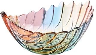 Home Fruit Basket Bowl,Tabletop Crystal Glass Fruit Plates (Multicolour L)