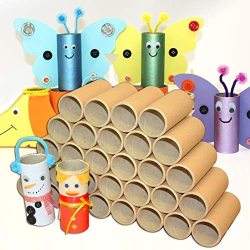 enve print Bastelröhren - 30 Stück extra robust - Pappröhren, Kartonröhren, Papierrollen zum Basteln, Papprollen, Bastelrollen, 10,5 x 4,6 cm