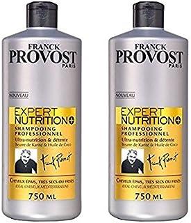 FRANCK PROVOST Expert Nutrition+ Shampoo professionale 750 ml – Set di 2
