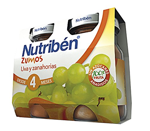 Nutribén Zumo UVA y Zanahorias - 2 paquetes de 130