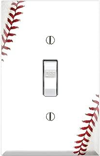 Graphics Wallplates - Baseball - Single Toggle Wall Plate Cover
