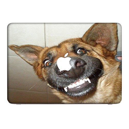 Hunde 10047, Deutscher Schäferhund, Skin-Aufkleber Folie Sticker Laptop Vinyl Designfolie Decal mit Ledernachbildung Laminat und Farbig Design für Apple MacBook Air 13
