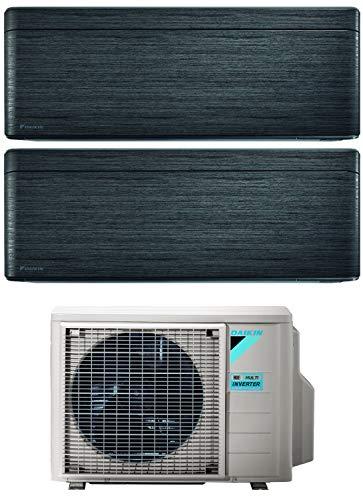 Climatizzatore Dual Split 7000 + 9000 Btu, Inverter, Classe A+++/A+++ Gas R32 Wi-Fi BlackWood Stylish