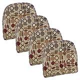 Klear Vu Corona Tufted Chair Cushion, 15', Set of 4, Celadon 4 Set