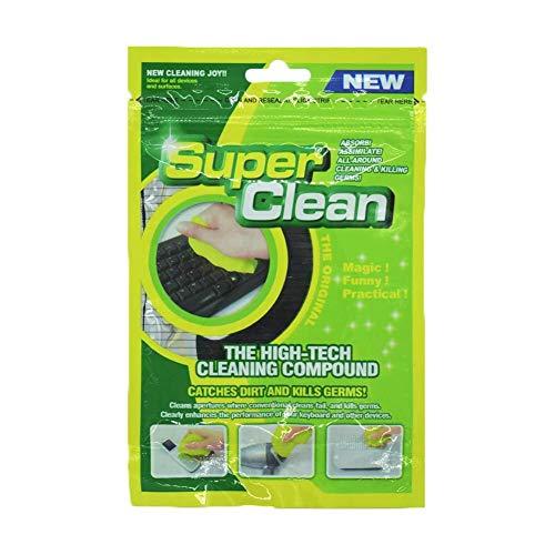 Tastatur Reinigung Super Clean Gel (80g) Magic Staub Reiniger für Laptops, Computers, Auto-Entlüftungsöffnungen, Taschenrechner, Instrument etc