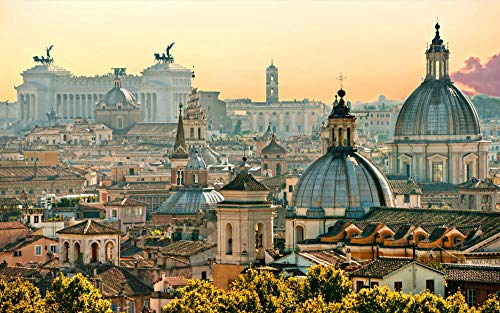 MKmd-s Rompecabezas de 1000 Piezas Paisaje de la Ciudad de Roma World Landscape Puzzle