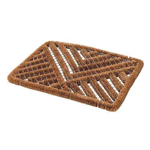 Fixman 775954 Draht-Fußmatte, braun