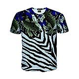 Pizoff(ピゾフ) メンズ Tシャツ 半袖 総柄 鯉柄 B系 原宿系 ファション ストリート 大きいサイズ カジュアル カットソーAC145-48-M