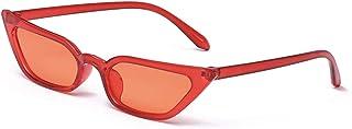 Small Frame Skinny Cat Eye Sunglasses for Women Colorful...