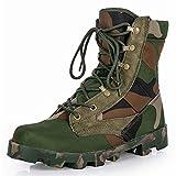 DIQIU Botas Combate Hombre Botas Entrenamiento Militar Botas Militares Senderismo Cuero Botas Martin Gran Tamaño Uniformes Zapatos Patrulla Seguridad Trabajo,C-45