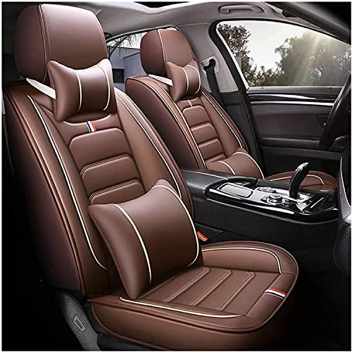 stoelkussen Beschermende autostoel en autosussen voor universele kunstleer vóór □ Achteraanpassingshoezen 5 zitplaatsen Cover Zitaccessoires (Color : Brown)