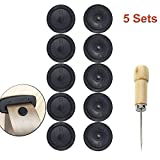 Y-Axis 5 x Seat Belt Button Buckle Clip Stop - Universal Fit Stopper Kit Black (5 Sets)