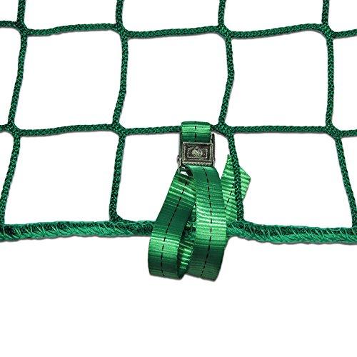 Seitenschutznetz Dachdeckerfangnetz mit angenähten GSV (2 x 10m, grün)